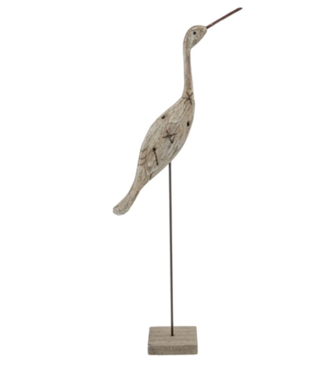 Medium Wood Bird on Stand