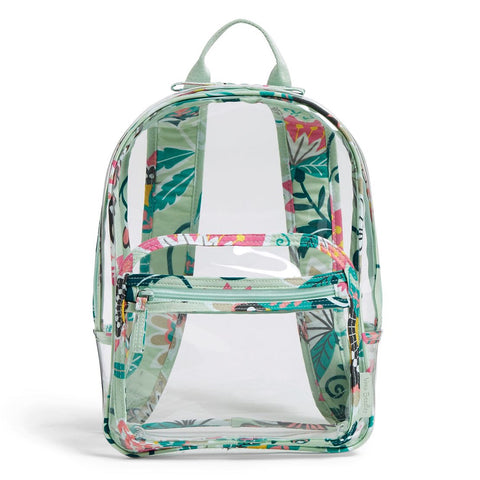 Clearly Colorful Stadium Backpack - Mint Flowers
