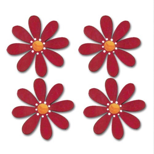 Flower magnet red