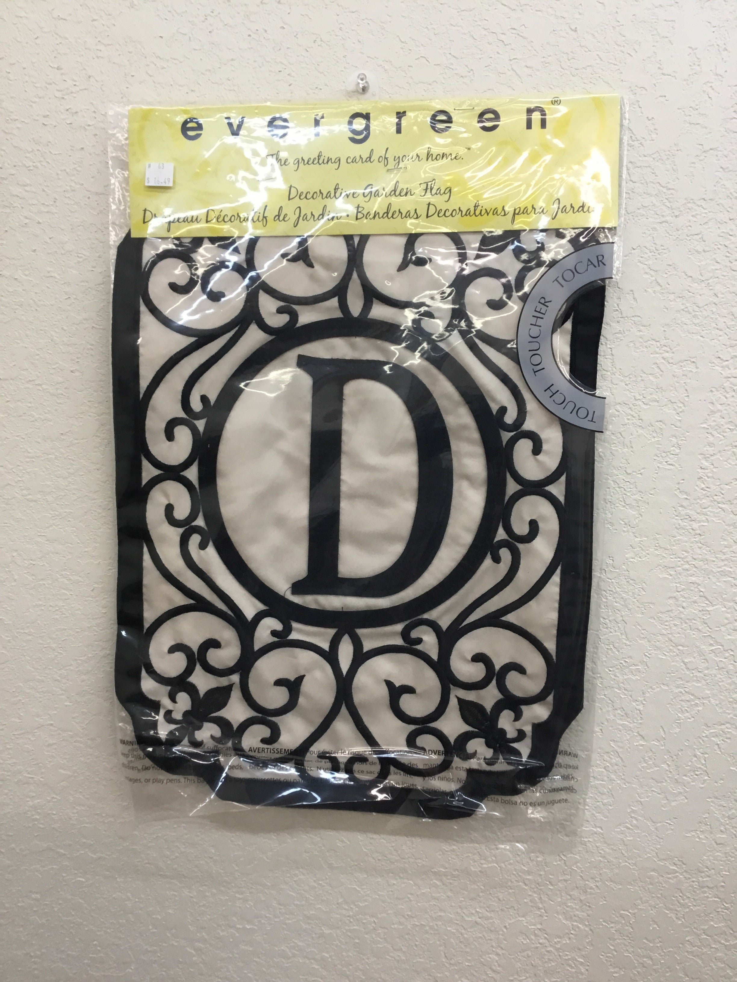 "Monogram ""D"" Applique Garden Flag"