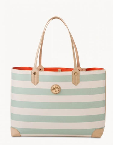 Tote Bag Sea Foam Stripe