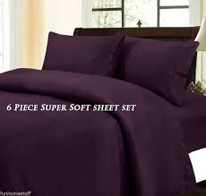 Virah Bella 2100 Count Microfiber Sheets Cal King-Plum