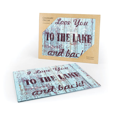 """I Love You to the Lake and Back""-Cutting Board"
