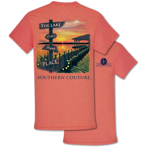 "Southern Couture T-Shirt ""Lake Happy Place"""
