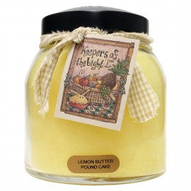 Keepers of the Light Candle- Lemon Butter Pound Cake 34 oz. Papa Jar