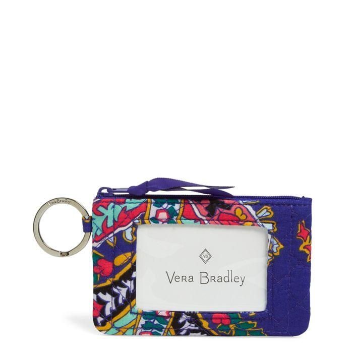 Vera Bradley:Iconic Zip ID Case-Romantic Paisley