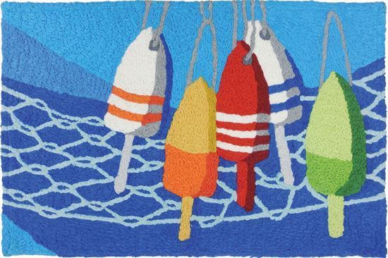 "Jellybean 21""x 33"" Bouys and Net Rug"