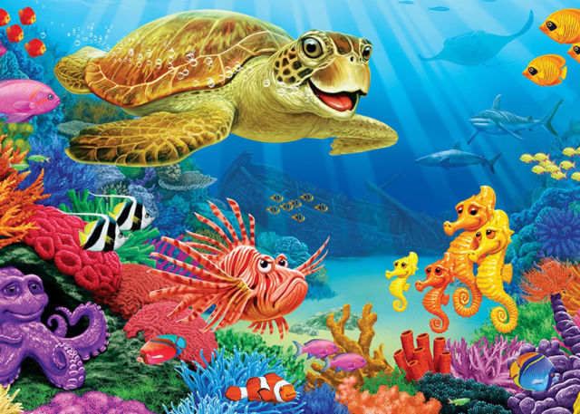 "Cobble Hill ""Undersea Turtle"" Puzzle"