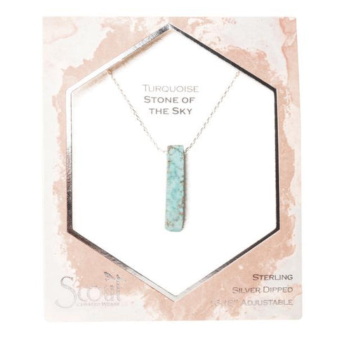 Stone Point Necklace-Turquoise/Stone of the Sky