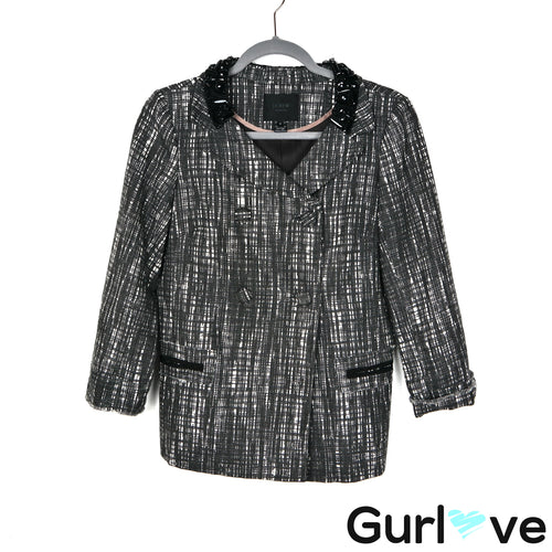 J. Crew Collection 6 Gray Embellishment Button Jacket