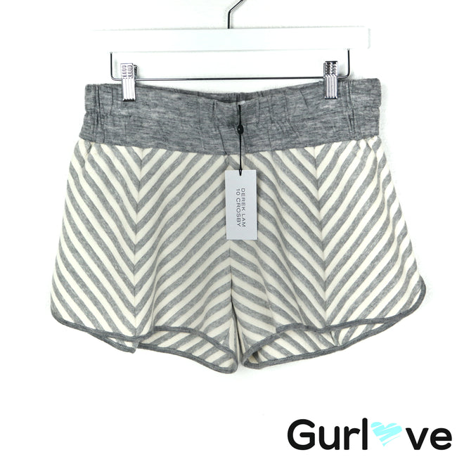 NWT 10 Crosby Derek Lam M Gray Chevron Shorts