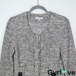 DREW S Gray Tweed Zipper Jacket
