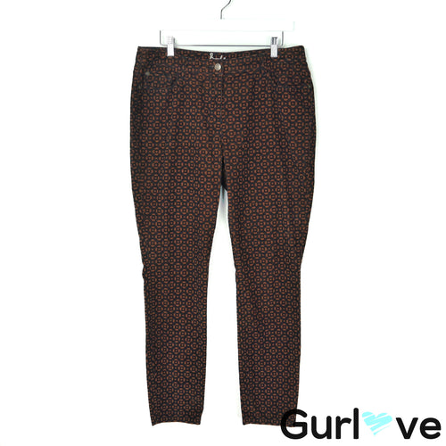 Boden 10R Brown Corduroy Pattern Slim Jeans