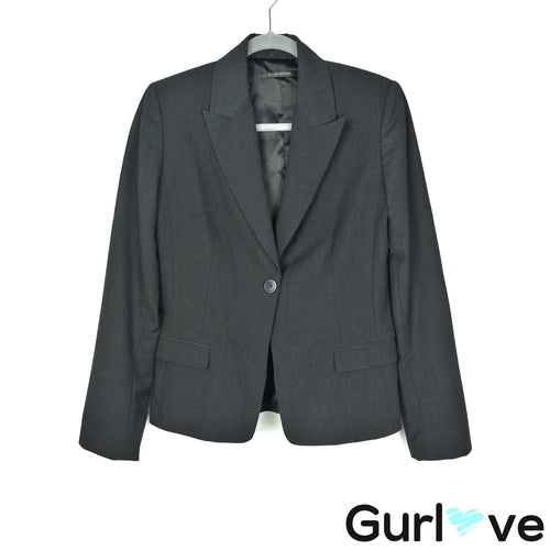 Elie Tahari 10 Charcoal Button Blazer Career