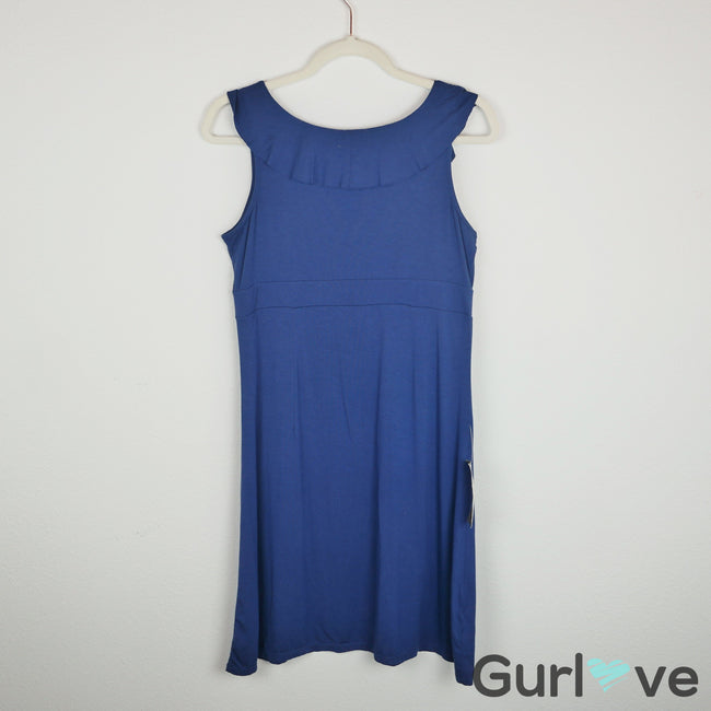 NWT Ann Taylor Petites Blue V Neck Dress Size MP
