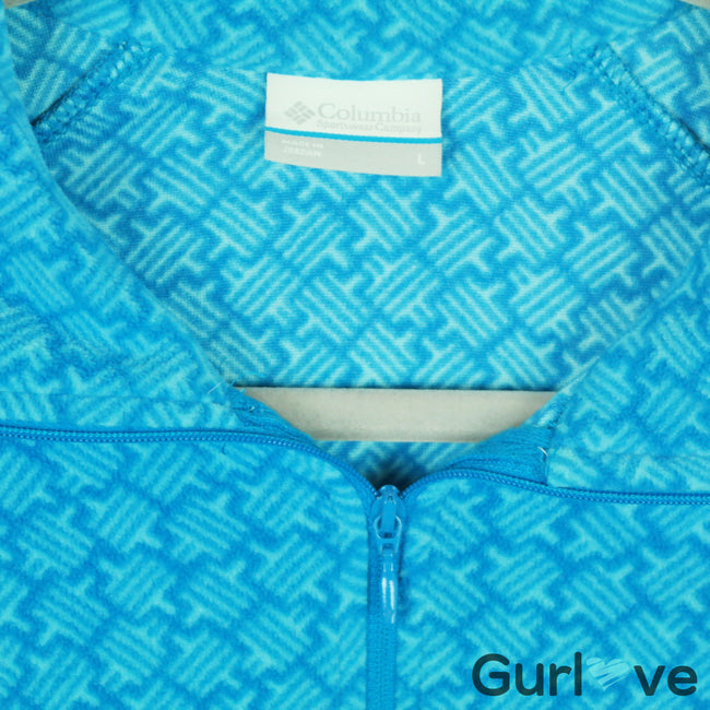 Columbia Blue Fleece Half Zip Jacket Sze L