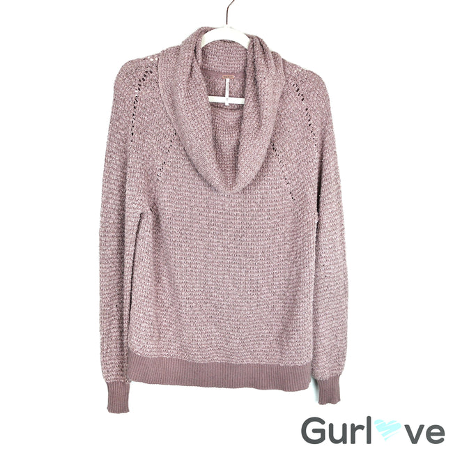 Free People By Your Side Sweater in Mauve Size XS