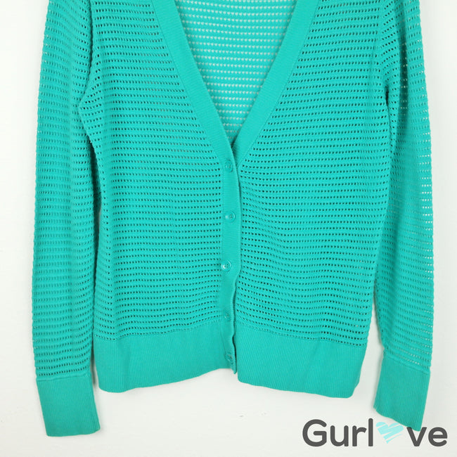 Banana Republic Teal Button Knitted Cardigan Size L