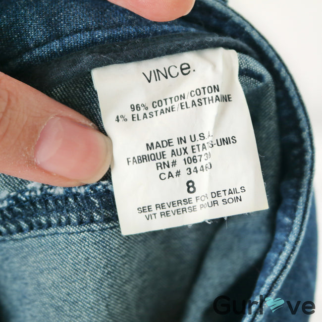 Vince Ankle Zipper Skinny Jeans Size 8