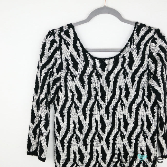 UO Silence and Noise Tiger Sweater Size M