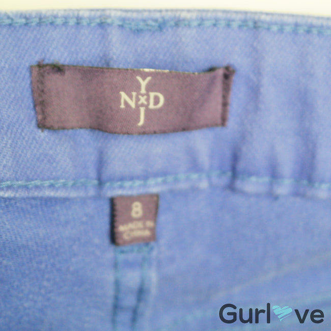 NYDJ Purple Straight Leg Jeans Size 8