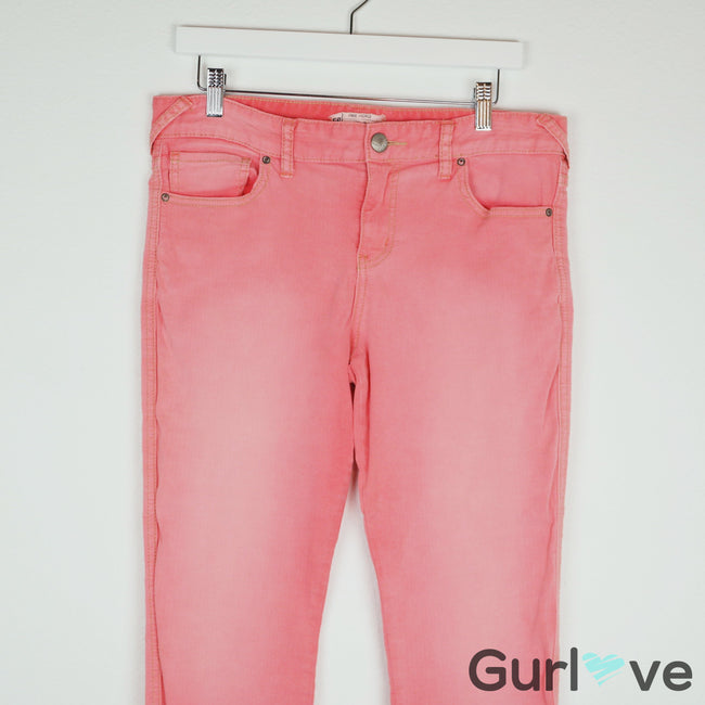 Free People Ankle Coral Jeans Size 30