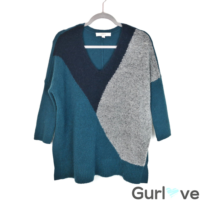 Ann Taylor LOFT Teal Oversize Sweater Size S