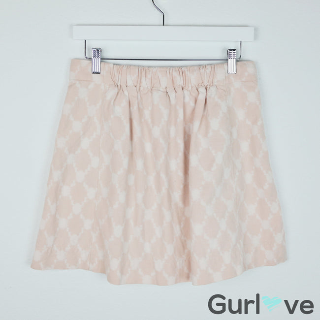 SALE J.Crew Ikat Monterey Mini Skirt Peach Pink White Size 2