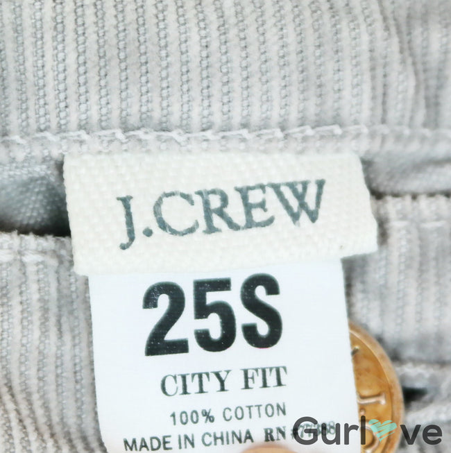 J. Crew Light Gray Corduroy City Fit Pants Size 25 S