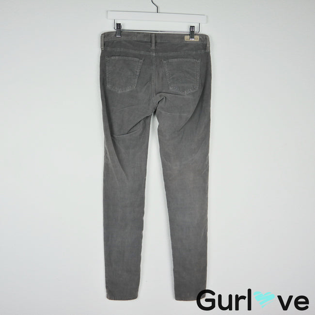 AG Adriano Goldschmied Gray Corduroy Legging Jeans Size 29 R