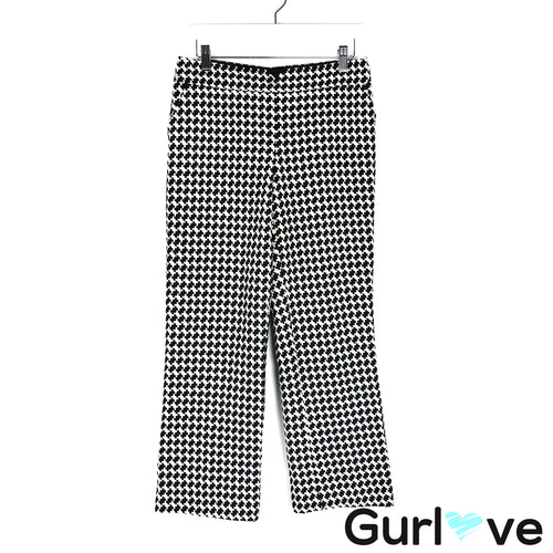 Trina Turk Black Fez Houndstooth Crop Pants Size 6