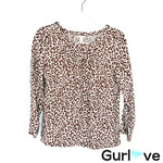 J. Crew Linen Animal Print Blouse Size 0