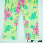 Lilly Pulitzer Green Floral Crop Pants Size 6