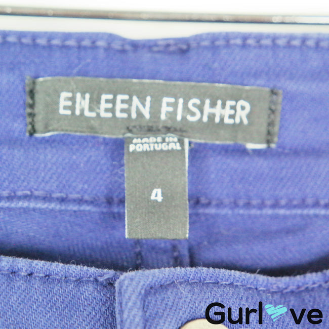 Eileen Fisher Purple Ankle Jeans Size 4