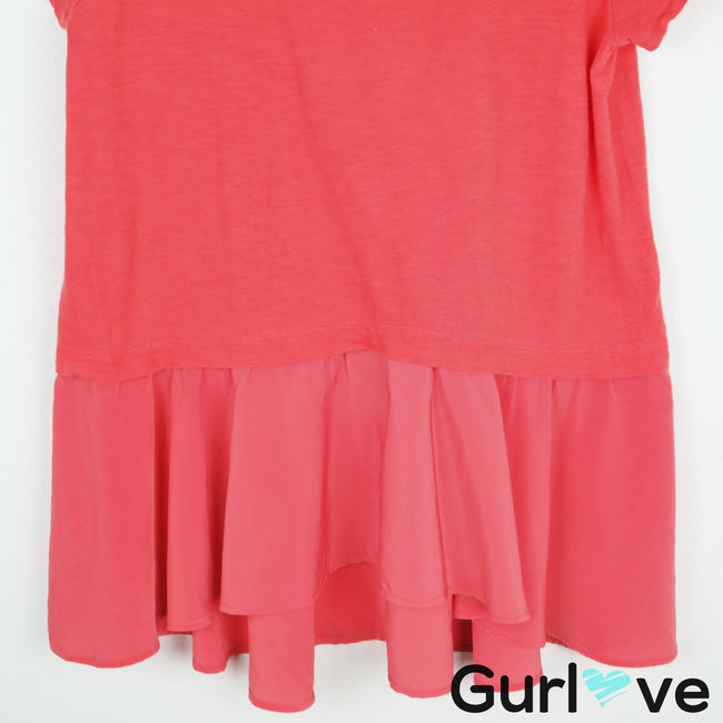 Postmark Anthro Coral Peplum Top Size L