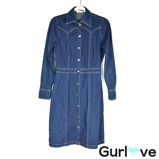 Hennes Long Sleeve Denim Dress Size XS