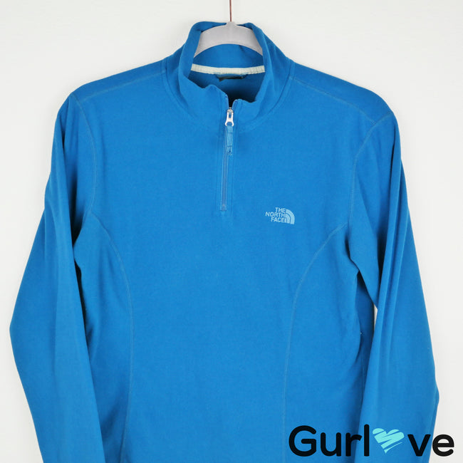 The North Face Blue Half Zip Fleece Jacket Size M
