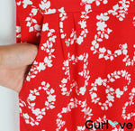 NWT Boden Red Floral Straight Pockets Short  Sleeves Dress Size 4R