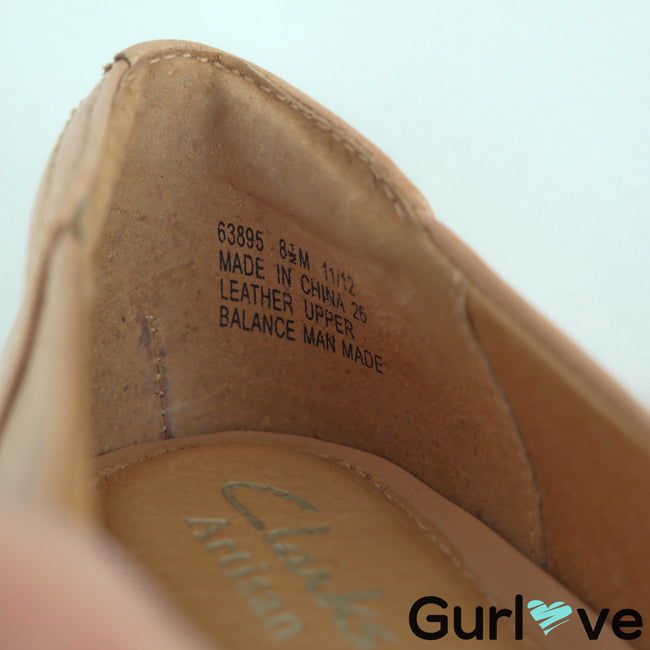 Clarks Artisan Size 8.5M Ryla King Tan Leather Pumps