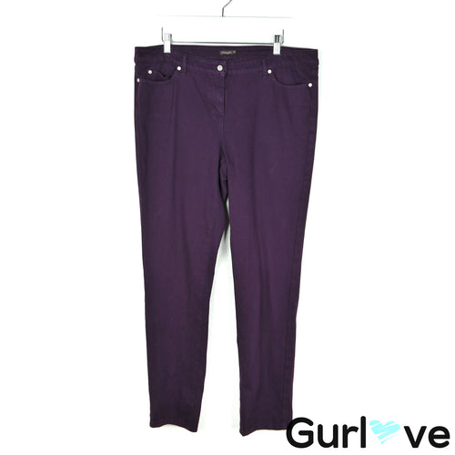 J.McLaughlin Size 14 Purple Slim Jeans