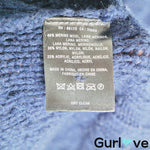 Anthro Sparrow Blue Chunky Long Merino Button Cardigan Size L