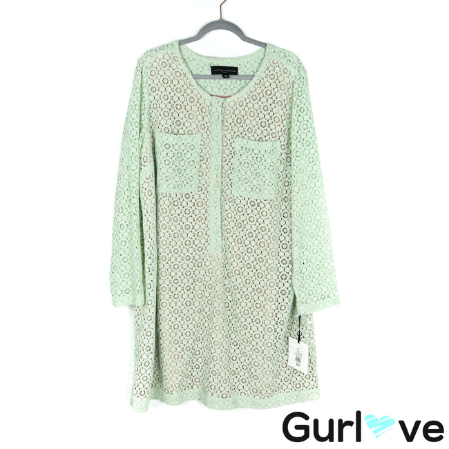 NWT Victoria Beckham For Target Mint Lace Shift Dress Size 2X
