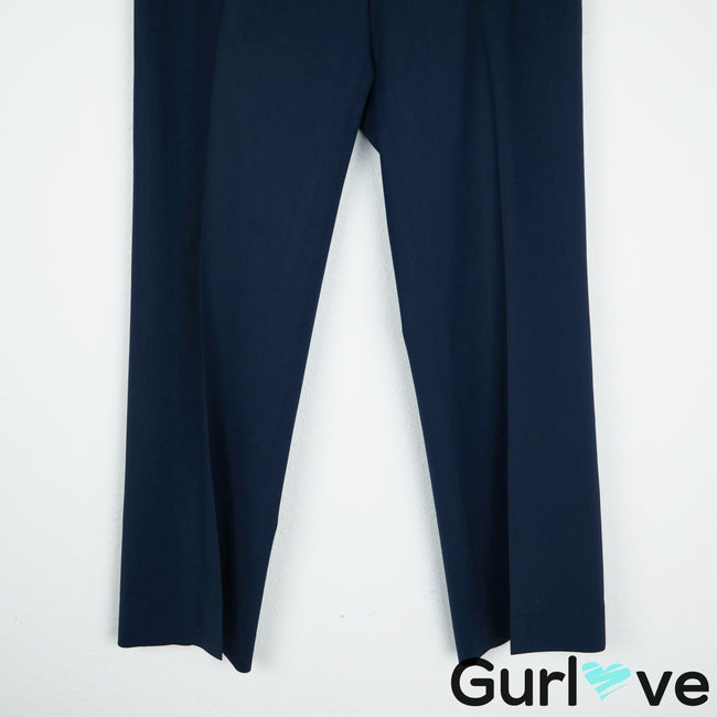 LAFAYETTE 148 NY Blue Straight Menswear Dress Pants Size 6