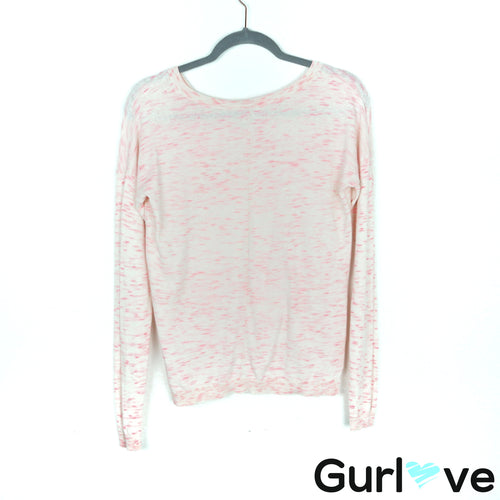 Roxy Pink V Neck Sweater Size M