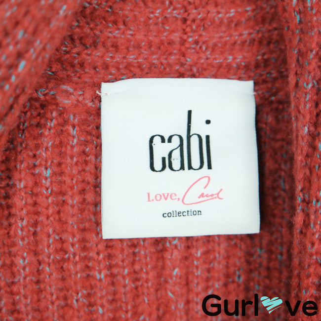 CAbi 3162 Rosewood Dolman Oversize Knit Button Cardigan Size S