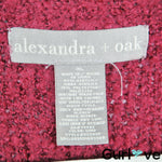 Alexandra + Oak Burgundy Fuzzy Duster Cardigan XL