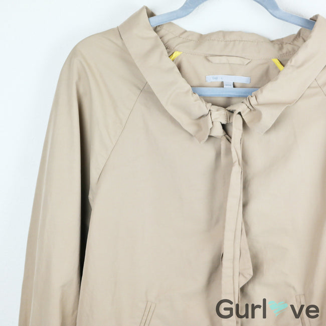 Gap Khaki Bomber Cinched Collar Jacket Size M