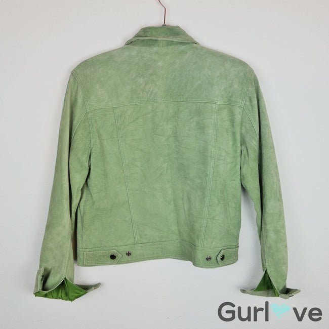 SALE Sorbe Green Suede Jacket Size M