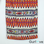 Trina Turk Aztec Print V-Neck Dress Silk Size 2