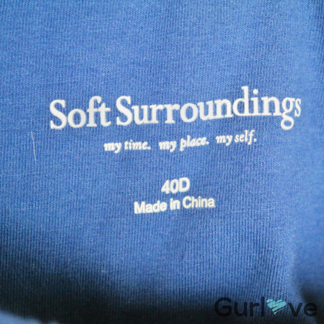 Soft Surroundings Blue Underwire Tee Size 40D